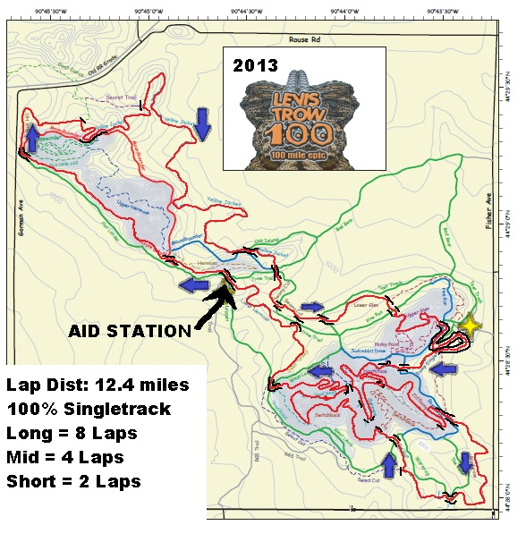 2013 LEVIS MAP