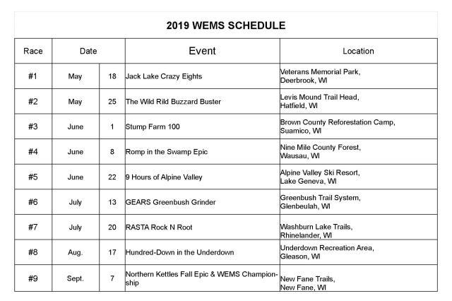 2019wemsschedule